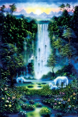 Image Reference   M033-00008Unicorns And Waterfalls