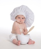 Messy flour baby