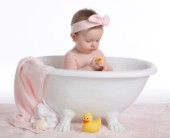 Bathing with rubber duck