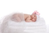 Pink Ribbon Baby Asleep