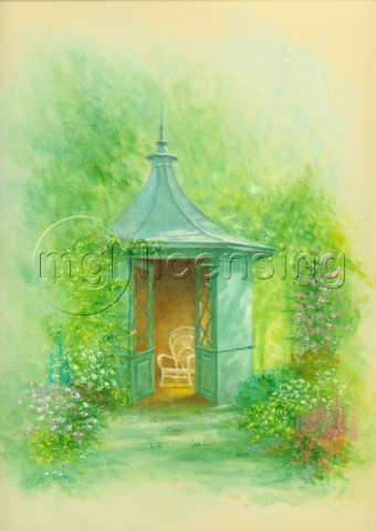 A seat in the summerhouse