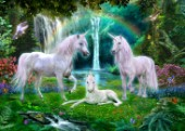 Rainbow Unicorn Family