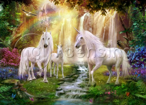 Image Reference   M057-00014Unicorns And Waterfalls