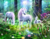 Forest unicorn family