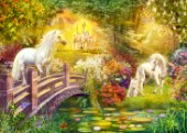 Enchanted garden unicorns