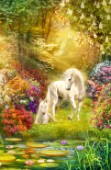 Enchanted garden unicorns (Variant 1)