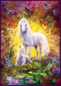 Unicorn and Foal with flowers