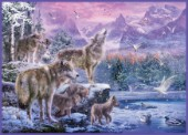 Wolves on Winter Mountains
