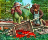 Spilt tomatoes - The cedar brook bears