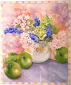 Hydrangeas and hyacinths