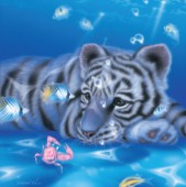 Mother Ocean - white tiger cub