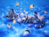 Ocean Bed - white tiger cub