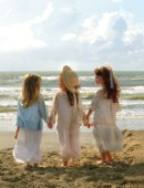 Favourite place (three girls by the seashore)