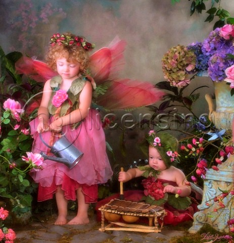 Watering can fairy