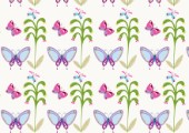 Pattern - purple butterflies