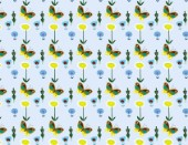 Pattern - blue butterflies