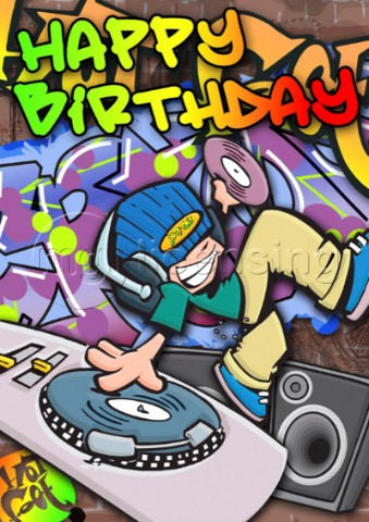 Scratch birthday card