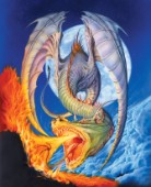 Fire moon dragon