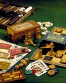 Chess, monopoly, backgammon, cards