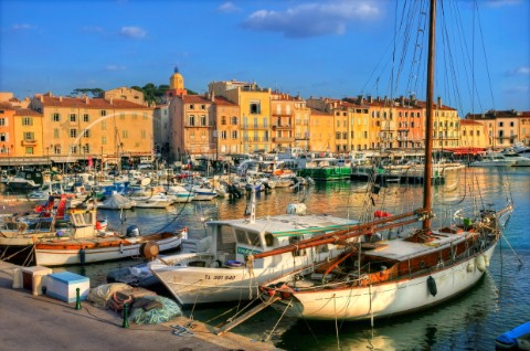 The Old Port in St Tropez LA527