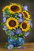 Sunflowers and Scabias