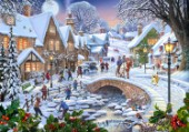 Winter village stream (Variant 1)
