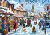 Winter Village Scene