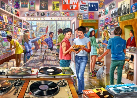 Vintage Record Store USA