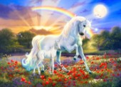 Rainbow Unicorn with Foal Landscape (variant 3)
