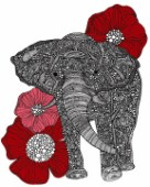 The Elephant with Flowers
