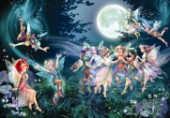 Fairies and elves dancing