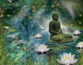 Floating Lotus Buddha