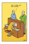 Imagine That! - Dog on piano
