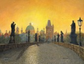 Misty Dawn, Charles Bridge, Prague