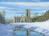 Winter Morning - Fountains Abbey, Yorkshire
