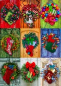 Holiday Wreathes With Stockings 3x3 AlisonLee