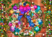 Vintage Fun Christmas Wreath
