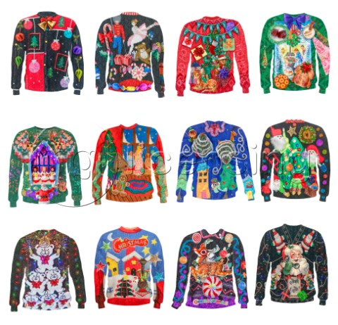 Ugly Christmas Sweater Set
