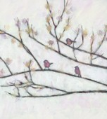 3 birds on branches