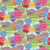 repeating pattern ~ happy hot air balloons and sun