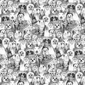 illustrated animals ~ also available as a repeating pattern