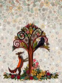 fox and crow ~ flattened artwork ~ jpeg140cm x 70cm 110dpi