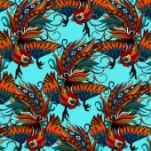 Rooster Chinese New Year Pattern