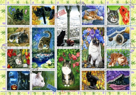 Cat Stamp Collection variant 1