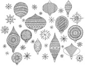 Neeti-Pattern-Christmas Ornaments