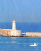 Mediterranean - Dam with lighthouse