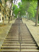 Paris stairs of Montmartre