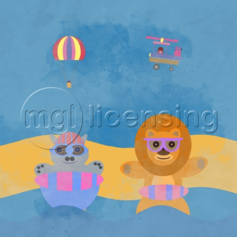 Cuddly Beach Adventure With Friends Variant 3