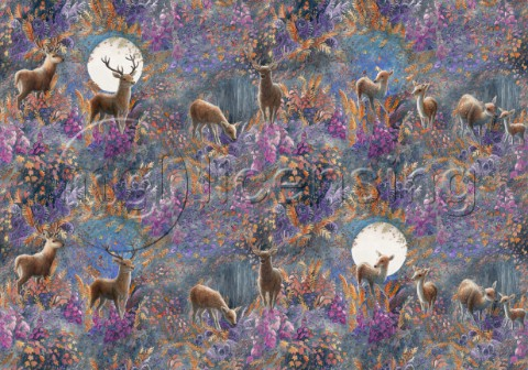 Creatures of the Field and Hedgerow  Repeating Pattern