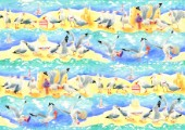Seagulls Stealing Food   Repeat Pattern